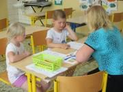 Budoucí prvňáčci poprvé ve škole